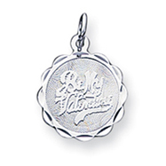 Sterling Silver Be My Valentine Disc Charm