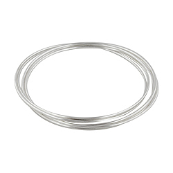 Sterling Silver 1mm Five Bangle Set