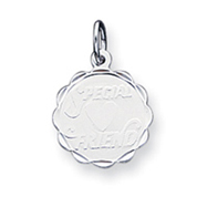 Sterling Silver Special Friend Disc Charm