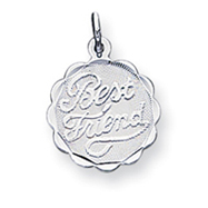 Sterling Silver Best Friend Disc Charm
