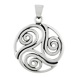 Sterling Silver Three Curls Pendant