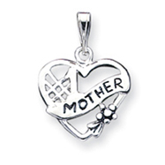 Sterling Silver Antiqued #1 Mother Charm