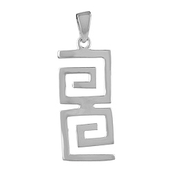 Sterling Silver Antique Pattern Pendant