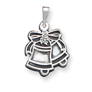 Sterling Silver Antiqued Bells Charm