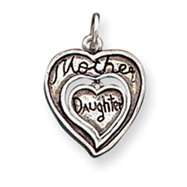 Sterling Silver Antique Mother & Daughter Charm