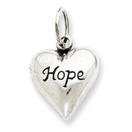 Sterling Silver Antiqued Hope Pendant