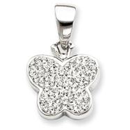 Sterling Silver Swarovski Crystal Butterfly Slide