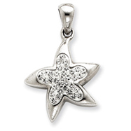 Sterling Silver Swarovski Crystal Star Pendant