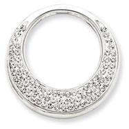 Sterling Silver Swarovski Crystal Circle Pendant