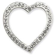 Sterling Silver Swarovski Crystal Heart Pendant