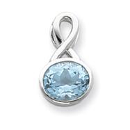 Sterling Silver Blue CZ Pendant