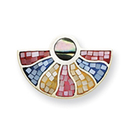Sterling Silver Multicolored Mother Of Pearl Slide
