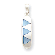 Sterling Silver Blue Mother Of Pearl Pendant