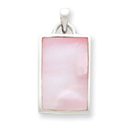 Sterling Silver Pink Mother Of Pearl Pendant