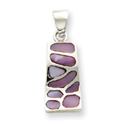 Sterling Silver Pink Stone Pendant