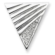 Sterling Silver CZ Slide Pendant