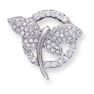 Sterling Silver CZ Butterfly Pendant