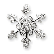Sterling Silver CZ Snowflake Pendant