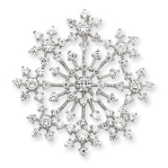 Sterling Silver CZ Snowflake Slide