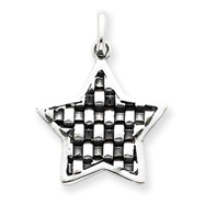 Sterling Silver Antiqued Star Charm