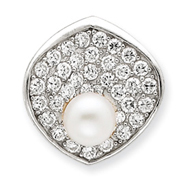 Sterling Silver Imitation Pearl Pendant