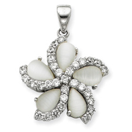 Sterling Silver CZ Pendant