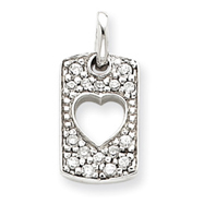 Sterling Silver Love CZ Heart Charm