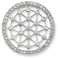 Sterling Silver Circle CZ Pendant