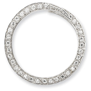 Sterling Silver CZ Circle Slide