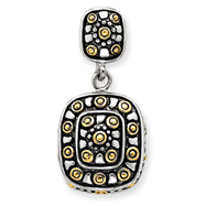 Sterling Silver Vermeil And Antiqued Pendant