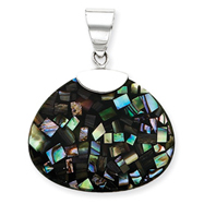 Sterling Silver Mother Of Pearl Pendant