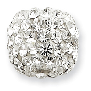 Sterling Silver Swarovski Crystal Round Slide
