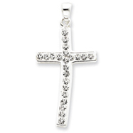Sterling Silver Swarovski Crystal Cross Pendant