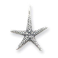 Sterling Silver Antiqued Starfish Pendant