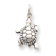 Sterling Silver Antique Turtle Charm