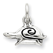 Sterling Silver Antiqued Snail Charm