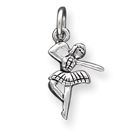 Sterling Silver Antique Ballerina Charm