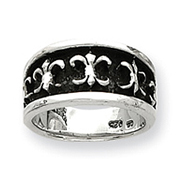 Sterling Silver Fleur De Lis Ladies Ring