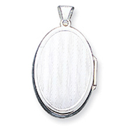 Sterling Silver Reversible Oval Locket
