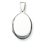 Sterling Silver Plain Locket