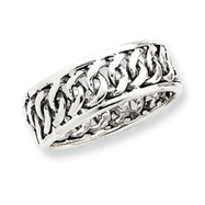 Sterling Silver Antiqued Band