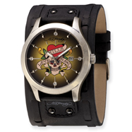 Mens Ed Hardy Gladiator Love Kills Watch