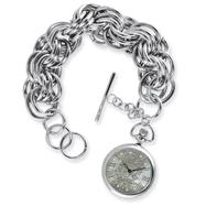 Ladies Ed Hardy Rebelle Silver-tone Watch