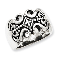 Sterling Silver Antiqued Gothic Ring