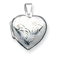 Sterling Silver Domed Heart Locket