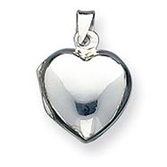 Sterling Silver Plain Domed Heart Locket