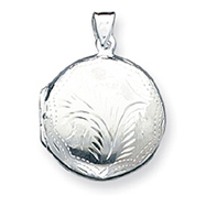 Sterling Silver Round Domed Locket