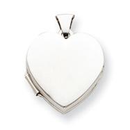 Sterling Silver Plain Heart Locket