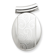 Sterling Silver Oval Slide Locket