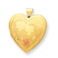 14K Gold Filled 4-Frame Heart Locket